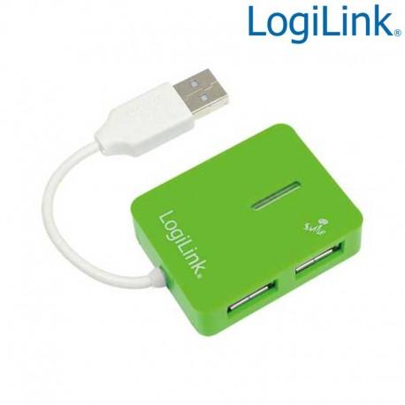 Logilink UA0138 - Hub USB 2.0 de 4 Puertos Verde ''Smile '' | Marlex Conexion