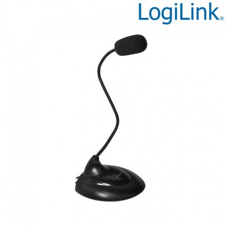 Logilink HS0047 - Micrófono Multimedia Flexible con soporte | Marlex Conexion