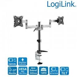 Logilink BP0077 - Soporte Dual de Mesa, 13-27' | Marlex Conexion