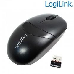 Ratón Wireless 2.4 Ghz, 3 Botones, Negro Logilink ID0069